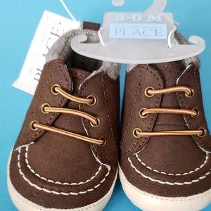 Dark Brown Suede Baby Shoes